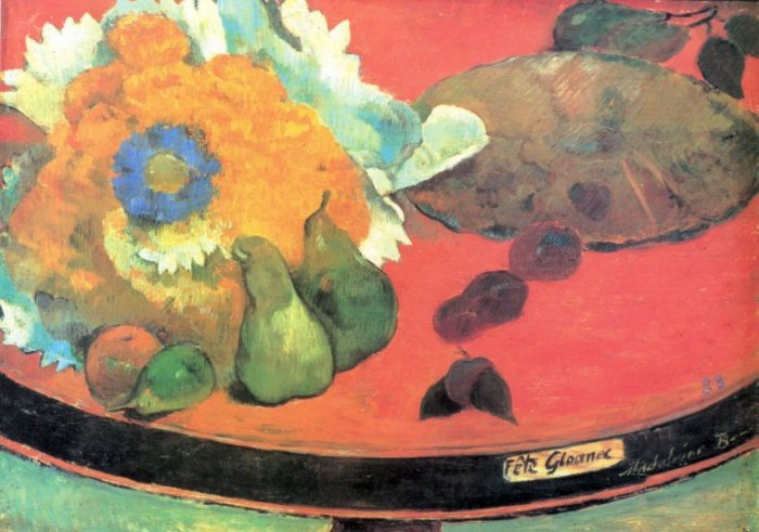 Still Life with Fete canvas art print by Paul Gauguin