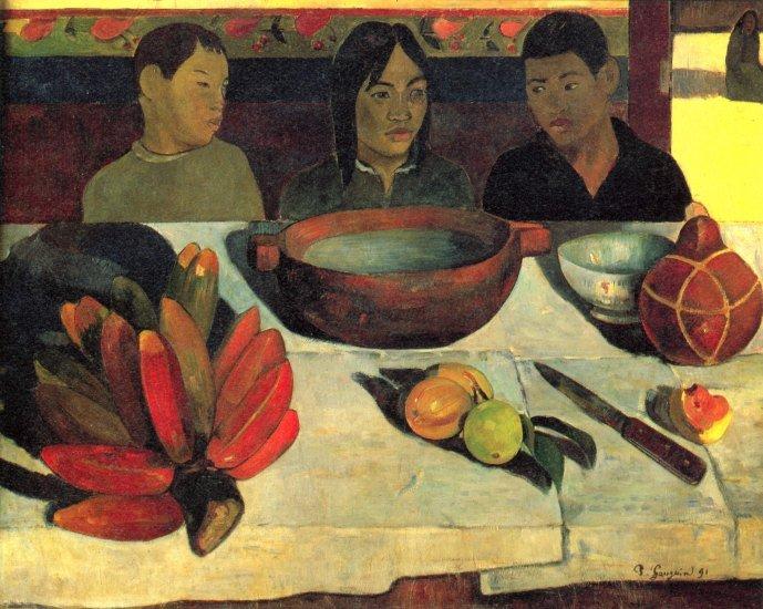 Still Life with Banana canvas art print by Paul Gauguin