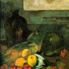 Still Life in Front of a Stitch canvas art print by Paul Gauguin