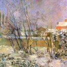 Snow in Rue Carcel landscape canvas art print by Paul Gauguin