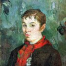 Landlord's Daughter woman portrait canvas art print by Paul Gauguin