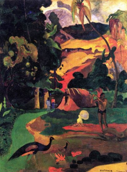 Landscape With Peacocks canvas art print by Paul Gauguin