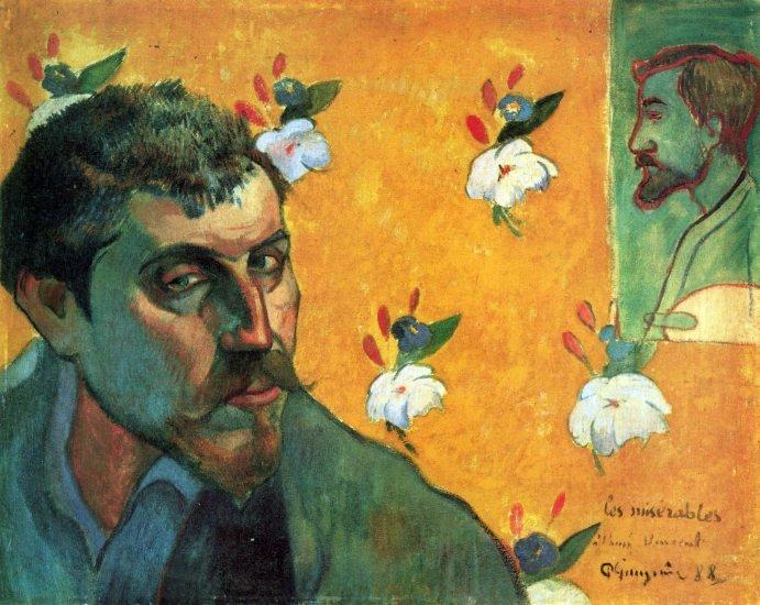Les Miserables man portrait canvas art print by Paul Gauguin