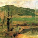 Look at Sainte Margueritte near Pont Avon landscape canvas art print by Paul Gauguin