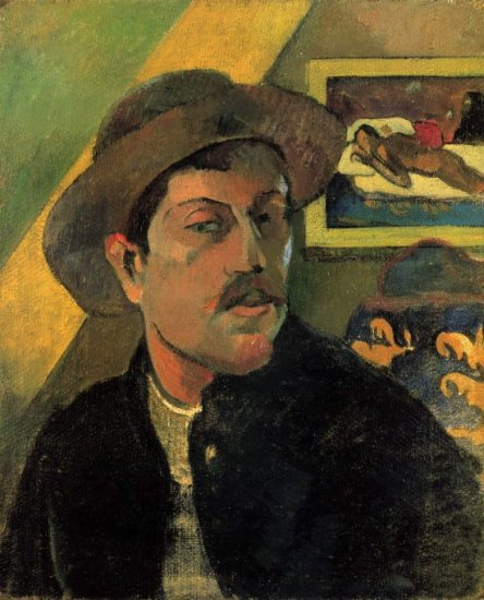 Self Portrait canvas art print by Paul Gauguin