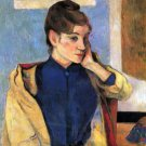 Madeleine Bernard woman portrait canvas art print by Paul Gauguin