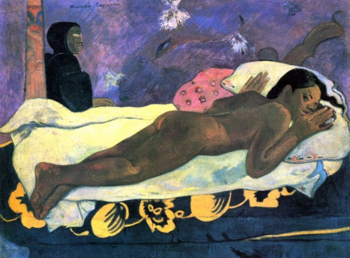 Manao Tupapau woman canvas art print by Paul Gauguin
