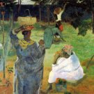 Mango Fruit women landscape canvas art print by Paul Gauguin