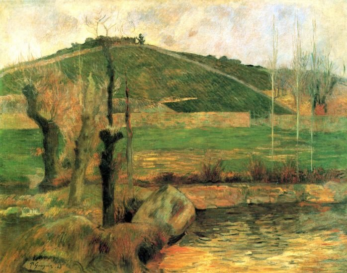 Sainte Marguerite near Pont Avon landscape canvas art print by Paul Gauguin