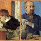 Portrait of Sculptor with Son man portrait canvas art print by Paul Gauguin