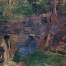 Pond Shore landscape canvas art print by Paul Gauguin