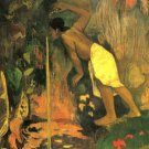 Mysterious Source water landscape canvas art print by Paul Gauguin
