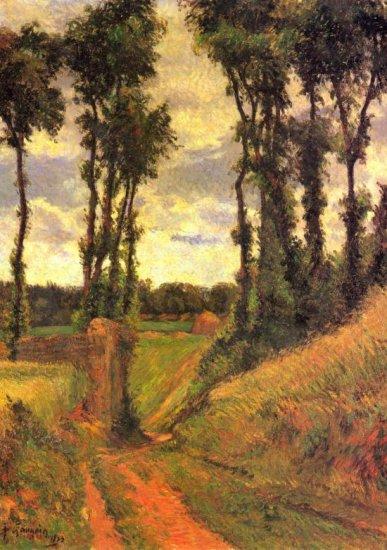 Pamplin landscape canvas art print by Paul Gauguin