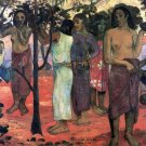 Nava Nava Mehana women people canvas art print by Paul Gauguin
