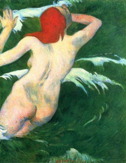 Ondine woman canvas art print by Paul Gauguin