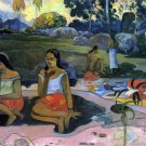 Nave Nave Moe women landscape canvas art print by Paul Gauguin