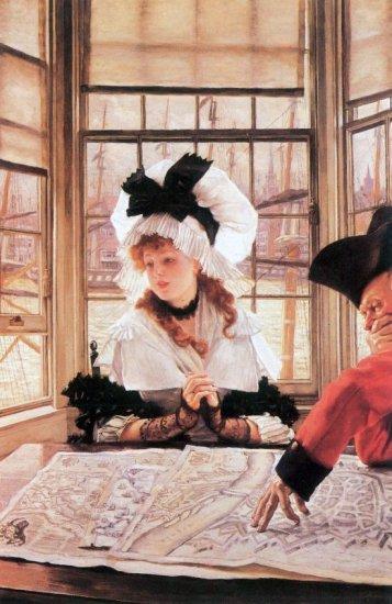 A Tedious History woman canvas art print by Tissot