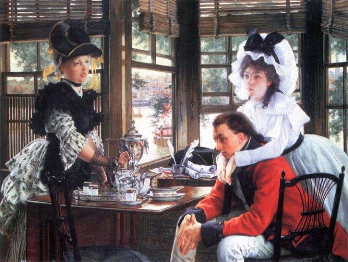Bad News The Separation women canvas art print by Tissot