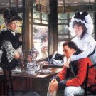 Bad News The Separation women canvas art print by Tissot