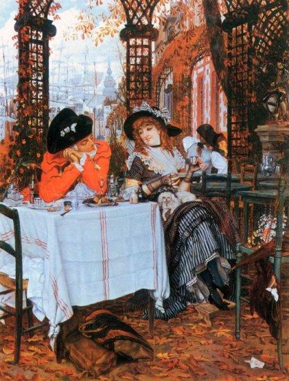 Breakfast women genre canvas art print by Tissot
