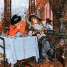 Breakfast women genre canvas art print by Tissot
