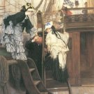 Entry to the Yacht women canvas art print by Tissot
