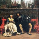 Faust and Marguerite in the Garden people landscape canvas art print by Tissot