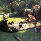 In the Sun family people landscape canvas art print by Tissot