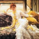 July woman canvas art print by Tissot