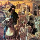Nehemiah Sees the Rubble biblical religious canvas art print by Tissot