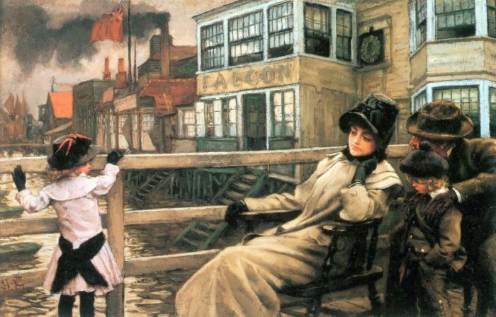 On the Ferry Waiting II canvas art print by Tissot