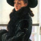 Portrait of Kathleen Newton woman canvas art print by Tissot