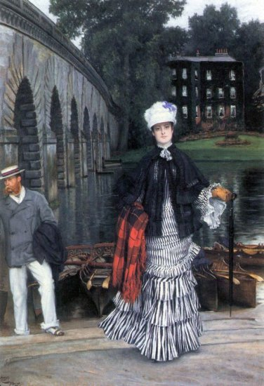 Return of the Boat Trip canvas art print by Tissot