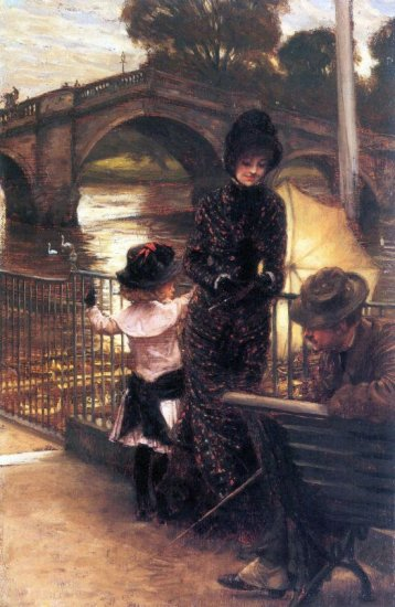 Richmond on the Thames canvas art print by Tissot