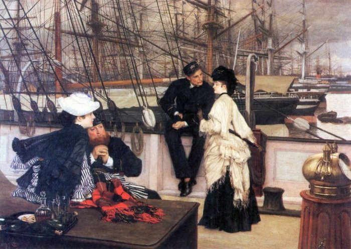 The Captain and his Girl women canvas art print by Tissot