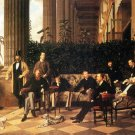 The Circle of the Rue Royale men canvas art print by Tissot