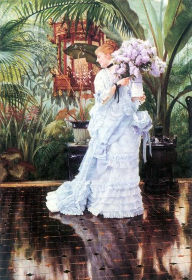 The Elder Strauss woman canvas art print by Tissot