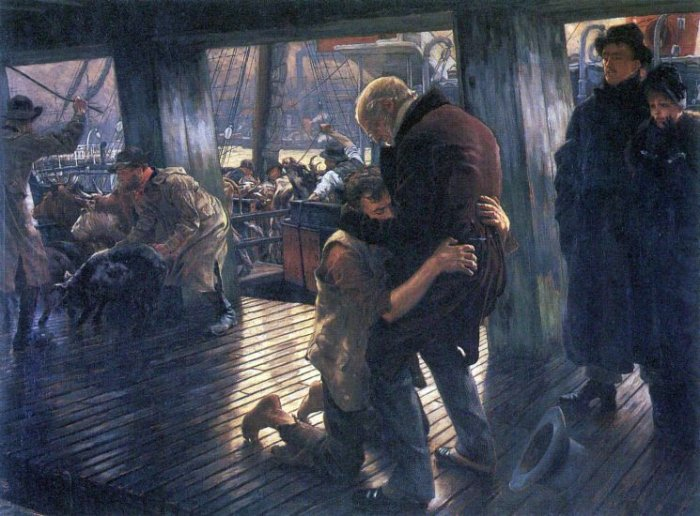 The Prodigal Son in Modern Life - The Return canvas art print by Tissot