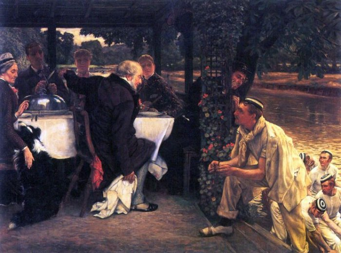 The Prodigal Son in Modern Life - The Fattened Calf canvas art print by Tissot