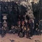 The Return March in the Tuileries military canvas art print by Tissot