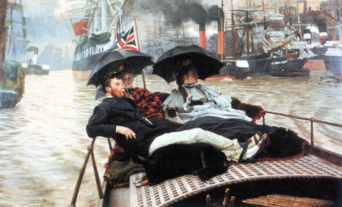 The Thames women canvas art print by Tissot