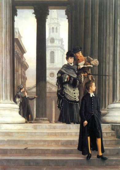 Visitors in London canvas art print by Tissot