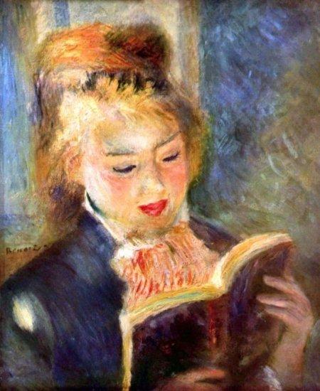 A Reading Woman 1874 A Reading Girl canvas art print by Pierre-Auguste Renoir