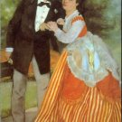 Alfred Sisley and his Wife 1868 woman man canvas art print by Pierre-Auguste Renoir
