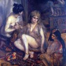 Algerian in Paris Dressing 1872 woman women canvas art print by Renoir