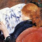 Young Woman Reads Illustrated Journal canvas art print by Pierre-Auguste Renoir