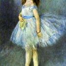 Ballet Dancer girl canvas art print by Pierre-Auguste Renoir