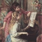 Young Girls at the Piano II canvas art print by Pierre-Auguste Renoir