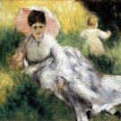 Woman with Parasol portrait canvas art print by Pierre-Auguste Renoir