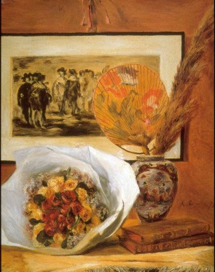 Still life bouquet canvas art print by Pierre-Auguste Renoir